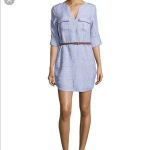 """Joie """"Rathana"""" Linen Shift Dress Blue"""